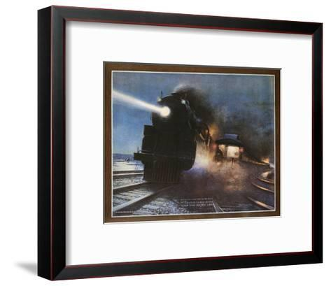 Pass in the Night, the Twentieth Century Limited of the New York Central Lines Poster-W.H. Foster-Framed Art Print