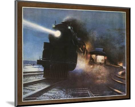 Pass in the Night, the Twentieth Century Limited of the New York Central Lines Poster-W.H. Foster-Mounted Giclee Print