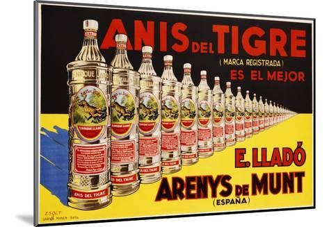 Anis Del Tigre Alcoholic Beverage Poster-Zsolt-Mounted Giclee Print