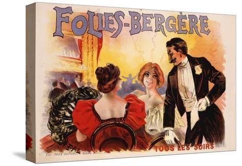 Folies-Bergere Poster--Stretched Canvas Print