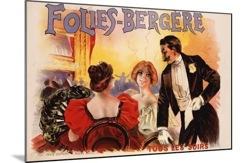 Folies-Bergere Poster--Mounted Giclee Print