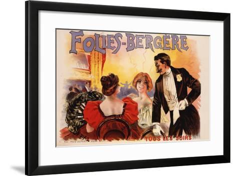 Folies-Bergere Poster--Framed Art Print