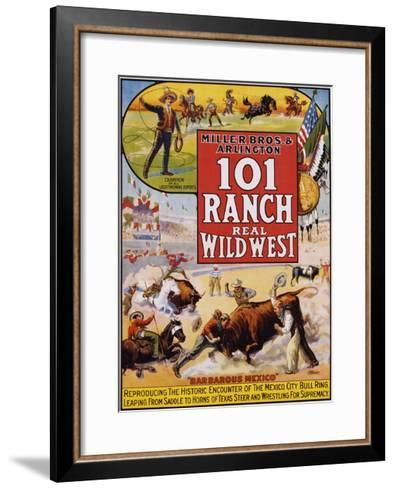 101 Ranch Real Wild West Poster--Framed Art Print