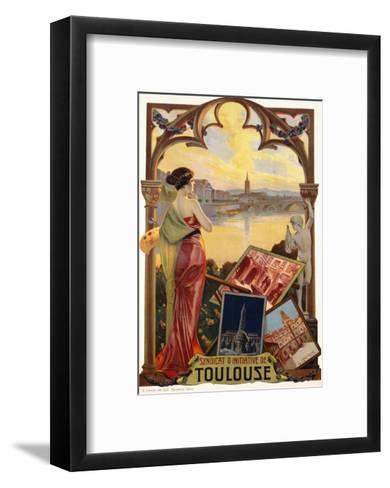 Syndicat D'Initiative De Toulouse Poster--Framed Art Print
