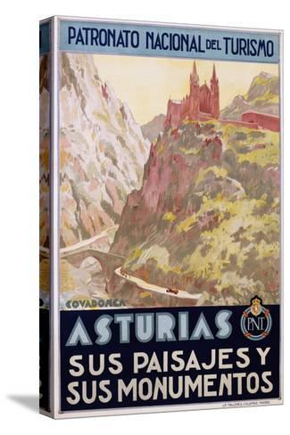 Asturias Sus Paisa Jes Y Sus Monumentos Poster--Stretched Canvas Print