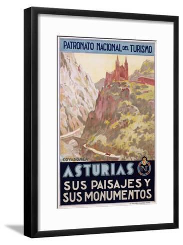 Asturias Sus Paisa Jes Y Sus Monumentos Poster--Framed Art Print