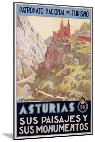 Asturias Sus Paisa Jes Y Sus Monumentos Poster--Mounted Giclee Print