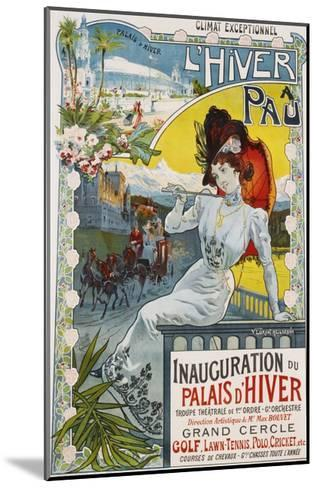 L'Hiver a Pau Poster-Vincent Lorant-Heilbronn-Mounted Giclee Print