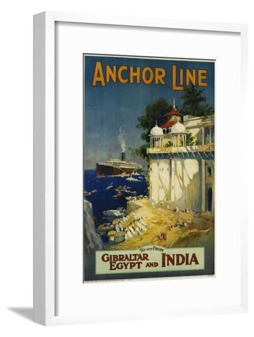 Anchor Line Travel Poster-W. Welsh-Framed Art Print