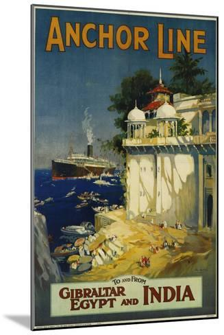 Anchor Line Travel Poster-W. Welsh-Mounted Giclee Print