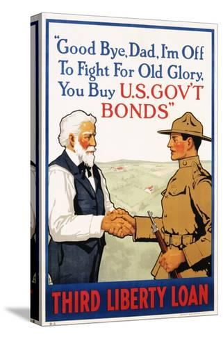 Third Liberty Loan Poster-Laurence Harris-Stretched Canvas Print