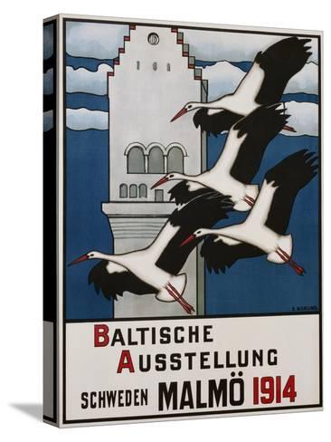 Baltische Ausstellung - Schweden Malmo Travel Poster-Ernst Norlind-Stretched Canvas Print