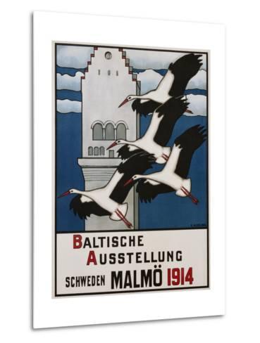Baltische Ausstellung - Schweden Malmo Travel Poster-Ernst Norlind-Metal Print