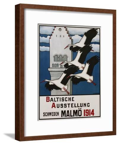 Baltische Ausstellung - Schweden Malmo Travel Poster-Ernst Norlind-Framed Art Print