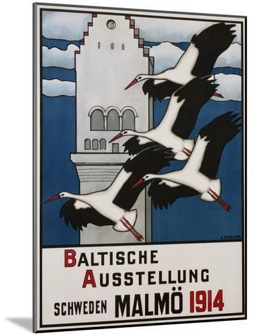 Baltische Ausstellung - Schweden Malmo Travel Poster-Ernst Norlind-Mounted Giclee Print
