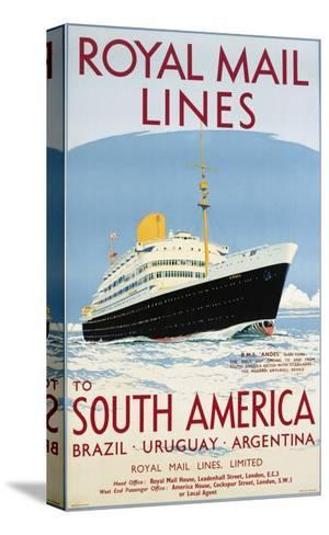 Royal Mail Lines to South America Poster-Jarvis-Stretched Canvas Print