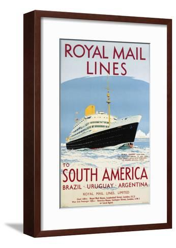 Royal Mail Lines to South America Poster-Jarvis-Framed Art Print