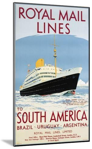 Royal Mail Lines to South America Poster-Jarvis-Mounted Giclee Print