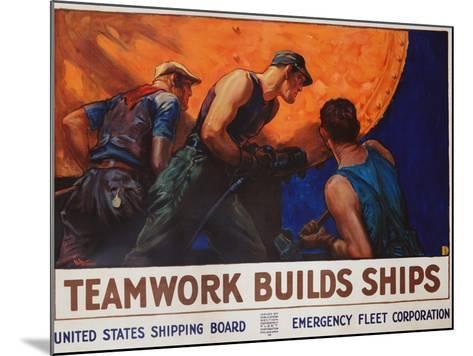 Teamwork Builds Ships Poster-William Dodge Stevens-Mounted Giclee Print