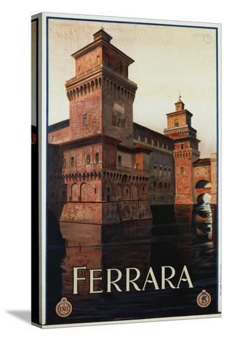 Ferrara Poster-Mario Borgoni-Stretched Canvas Print