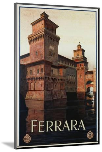 Ferrara Poster-Mario Borgoni-Mounted Giclee Print