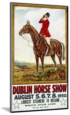 Dublin Horse Show Poster-Olive Whitmore-Mounted Giclee Print