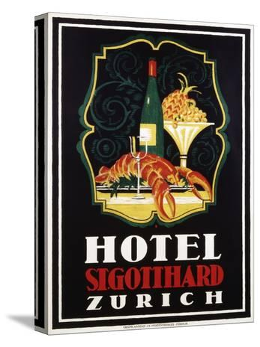 Hotel St. Gotthard Zurich Poster-Otto Baumberger-Stretched Canvas Print