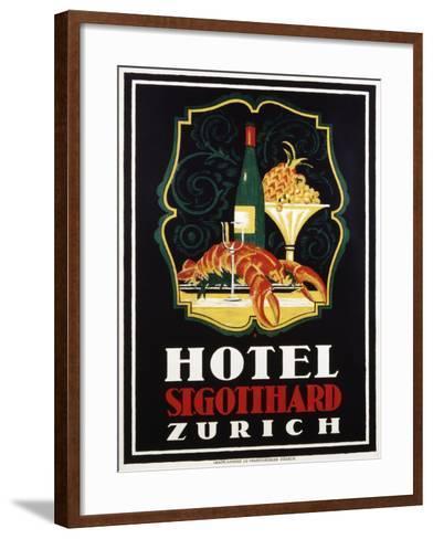 Hotel St. Gotthard Zurich Poster-Otto Baumberger-Framed Art Print