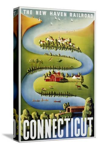 Connecticut Poster-Ben Nason-Stretched Canvas Print