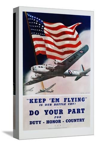 Do Your Part Poster-Dan V. Smith and Albro F. Downe-Stretched Canvas Print