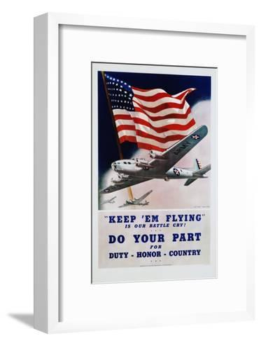 Do Your Part Poster-Dan V. Smith and Albro F. Downe-Framed Art Print