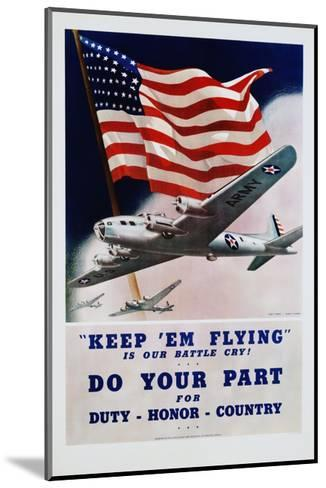 Do Your Part Poster-Dan V. Smith and Albro F. Downe-Mounted Giclee Print