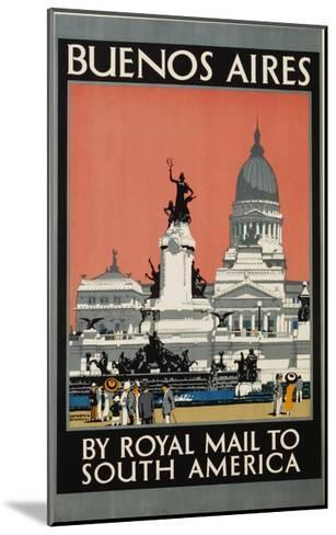 Buenos Aires by Royal Mail to South America Poster-Kenneth Shoesmith-Mounted Giclee Print