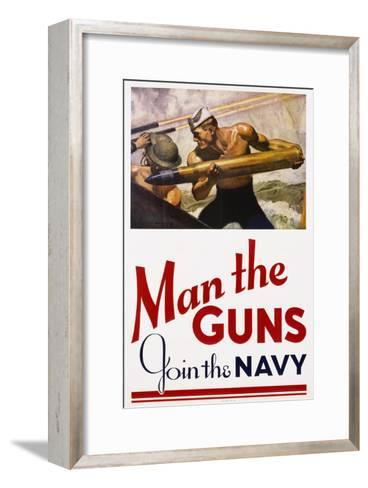 Man the Guns - Join the Navy Recruitment Poster Giclee Print by ...