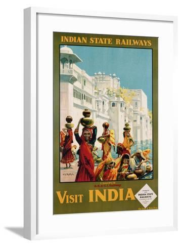 Visit India - Indian State Railways, Udaipur Poster-W^S Bylityllis-Framed Art Print