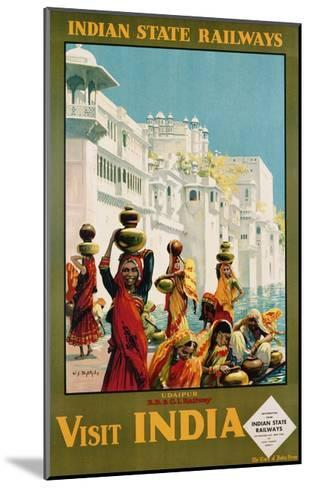 Visit India - Indian State Railways, Udaipur Poster-W^S Bylityllis-Mounted Giclee Print