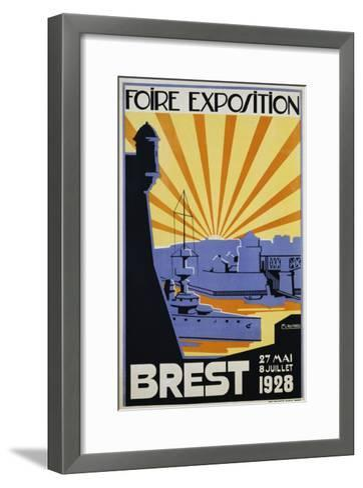 Foire Exposition Brest Poster-C. Lautrou-Framed Art Print