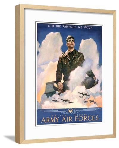 O'Er the Ramparts We Watch Recruitment Poster-Jes Schlaikjer-Framed Art Print
