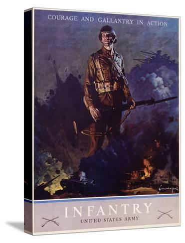 Infantry Recruitment Poster-Jes Schlaikjer-Stretched Canvas Print