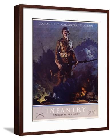 Infantry Recruitment Poster-Jes Schlaikjer-Framed Art Print
