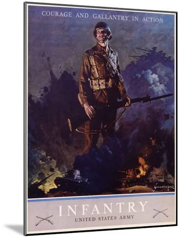 Infantry Recruitment Poster-Jes Schlaikjer-Mounted Giclee Print