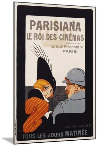 Parisiana Le Roi Des Cinemas Poster-R^ Pichon-Mounted Giclee Print