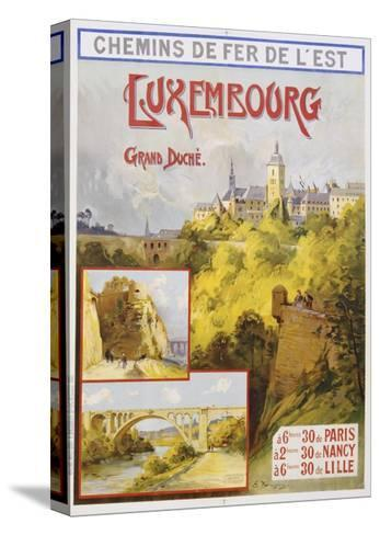 Luxembourg Travel Poster-E. Bourgeois-Stretched Canvas Print