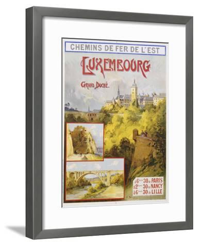 Luxembourg Travel Poster-E. Bourgeois-Framed Art Print