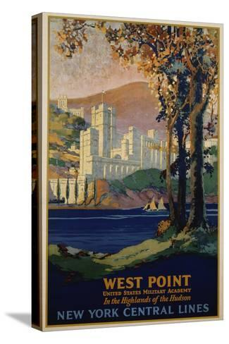 West Point - New York Central Lines Travel Poster-Frank Hazell-Stretched Canvas Print