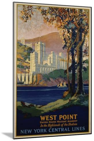 West Point - New York Central Lines Travel Poster-Frank Hazell-Mounted Giclee Print