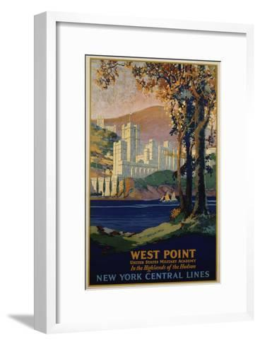 West Point - New York Central Lines Travel Poster-Frank Hazell-Framed Art Print