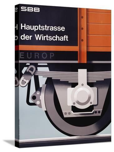 Hauptstrasse Der Wirtschaft Poster-Hans Hartmann-Stretched Canvas Print
