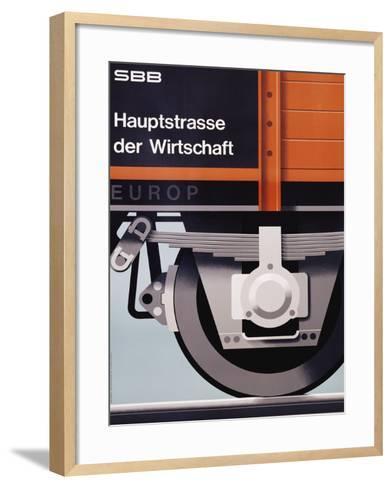 Hauptstrasse Der Wirtschaft Poster-Hans Hartmann-Framed Art Print