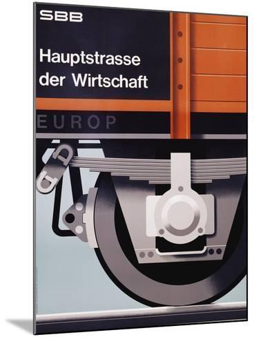 Hauptstrasse Der Wirtschaft Poster-Hans Hartmann-Mounted Giclee Print